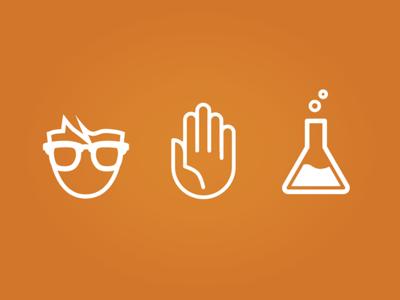 Nerd Science Icons