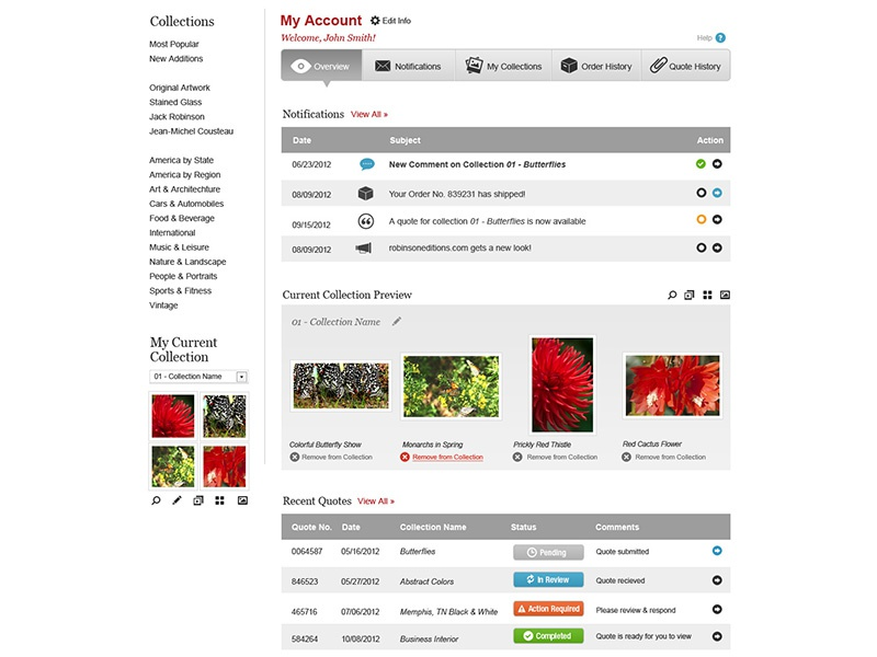 Re Account Overview ui website account settings