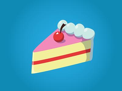 Cake illustration cake vector bright
