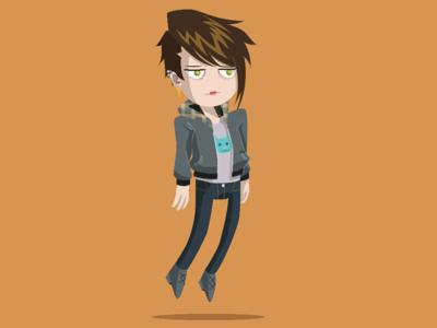 Unimpressed Biggles vector character illustration