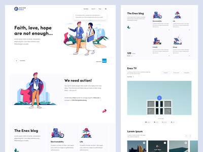 Enex | Landing ux ui light interface simplicity usability desktop layout marketing bootstrap layout minimal clean design