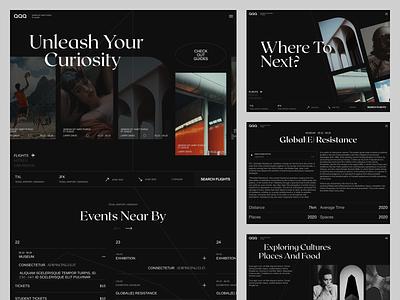 QQQ concept concept design art direction typography design website interface dark interface user experience design uxui