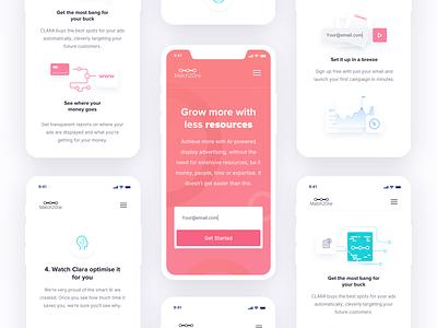 M2o Mobile user experience design online optimization light interface simplicity usability ux ui website landing page design user interface minimal clean design