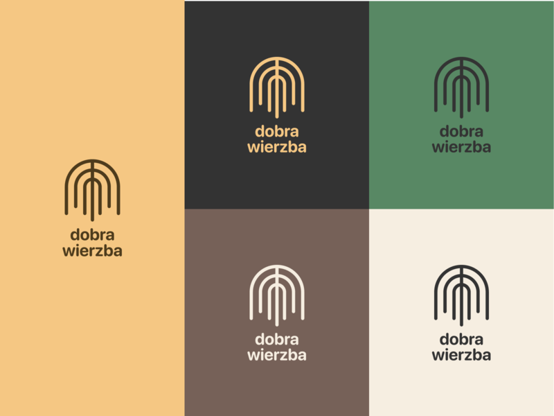 Dobra Wierzba logo line design lines symmetry colors logo design flat icon branding vector typography logo design simple minimal