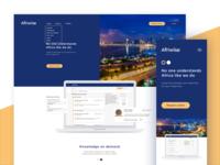 Afriwise Landing Page