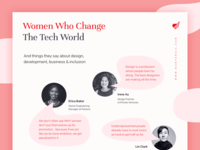 Women Who Change The Tech World Poster