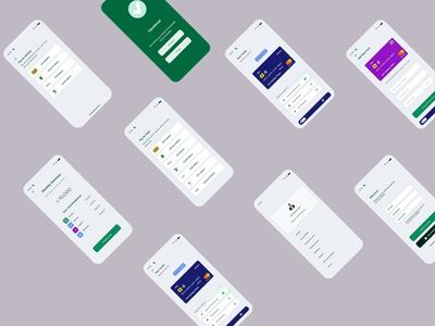 A Fintech app I worked on recently using Adobe XD minimal adobexd ux design ui