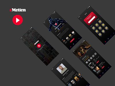 eMotion (Movie Application) ux design ui adobexd