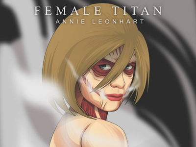 Annie Titan / Shingeki No Kyojin anime vector art illustration