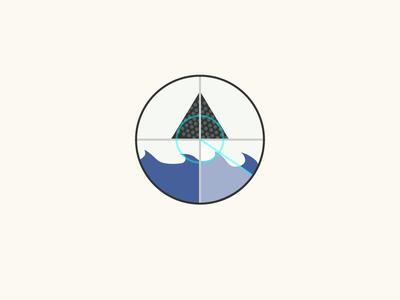bermuda triangle bermuda triangle waves icon radar triangle illustration