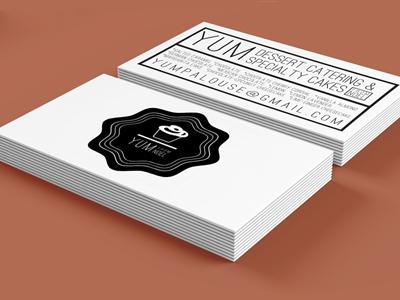 yum business card bakery cupcake yum