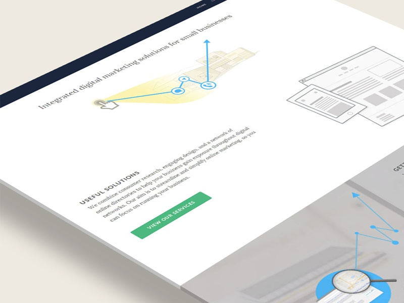 find in context branding simple illustration ui interface