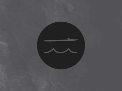 Harpoon logo mark badge harpoon waves branding