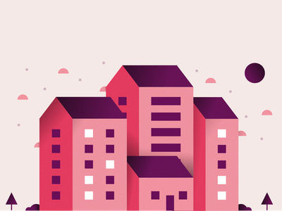 Town Illustration #6 flat illustrator illustrators illustrations city branding design flatdesign flat art vectorart illustration flat illustration city illustration minimalist vector minimal flat landscape town city building build