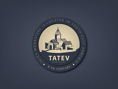 tatev monastery building logo logotype brand armenia
