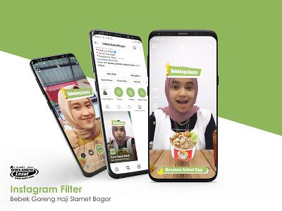 Instagram Filter | Bebek Goreng Slamet Bogor augmented reality spark ar branding socialmedia social instagram feed facebook design