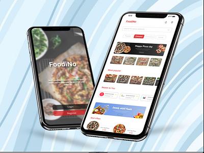 Online Food Delivery App Design food app user interface user exprience responsive landing page iranian design ui