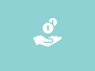 PocketMoney app blue icon flat