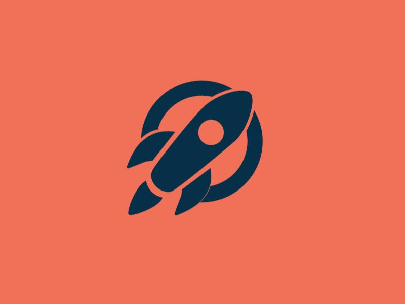 Rocket illustration flat icon rocket