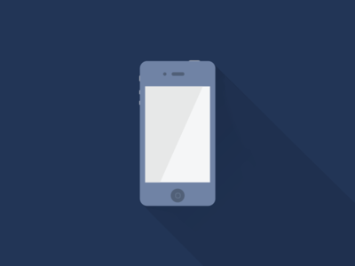Iphone long shadow navy iphone icon flat