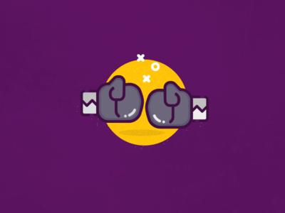 'In Training' illustration gym training gloves boxing illustration