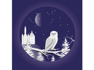 Paper-Cut-Owl design vector illustration