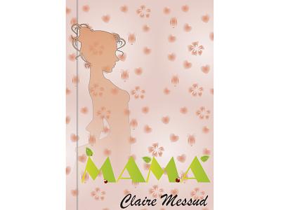 book cover mom vector design illustration