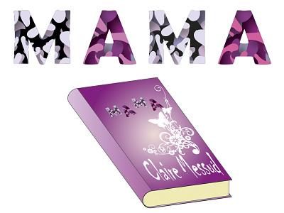 Paper-Cut-Сover book mom vector design illustration