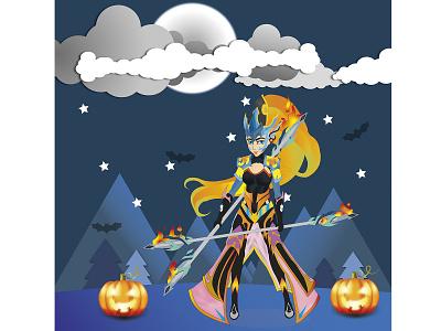 idle heroes game vector design illustration