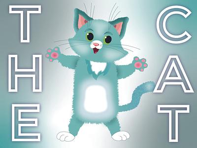 The Cat vector design illustration