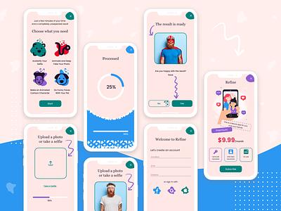 Quiz loading blue pink offer registration web design ux ui sales funnel quiz