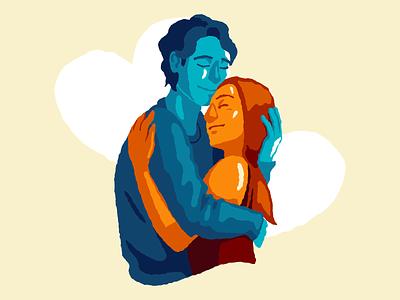 Hug hugging hugs hug icons8 vector art illustration digital art