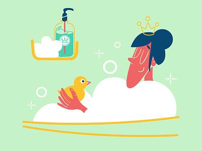Relax bubbles bath icons8 vector art illustration digital art
