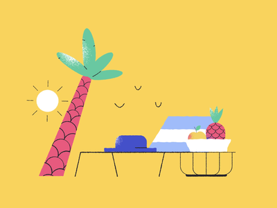 Day & Night animation vacation icons8 vector art illustration digital art