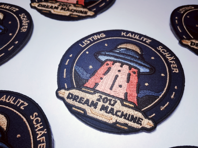 Dream Machine 2K17 old school vintage space embroidery patch dream machine