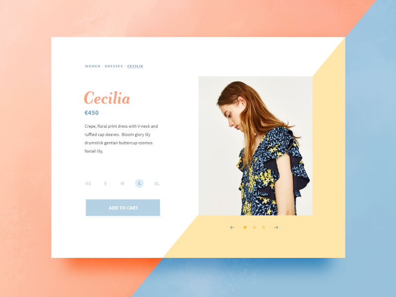 Cecilia product ui card pastel