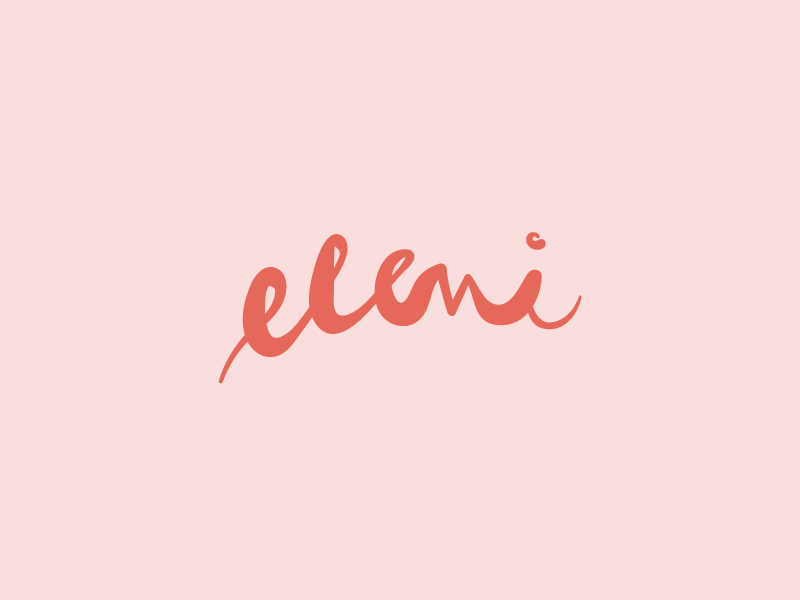 Eleni hair studio unused logo handwritten script salon hair studio hair salon