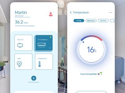 IOT smart home app iot ui ux minimal app illustration design