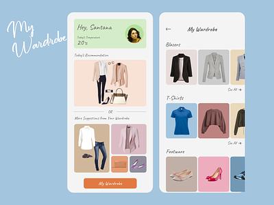 My Wardrobe style styleguide clothes wardrobe colors color ux ui app design