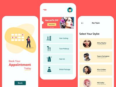 Salon App salon app salon ux app ui design