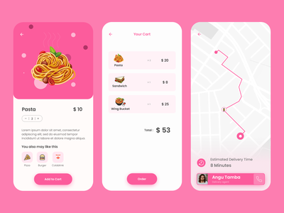 Food Delivery App color food delivery application food app food and drink app ui design