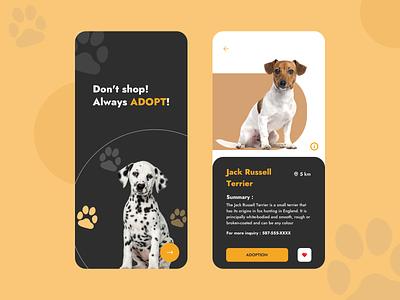 Dog Adoption dog food search dog adoption app app design novus logics doggy adopt dog adoption adoption ux app ui design