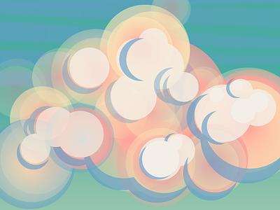 vanilla clouds web landscape vector illustration vectorart illustration