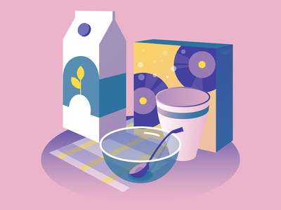 Musical flakes flat minimal vector typography web design vectorart illustration