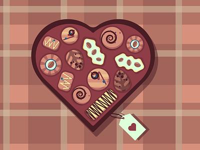 Chocolove              1 logo illustration design cute valentinesday love