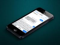iOS7 Keyboard Concept Mockup