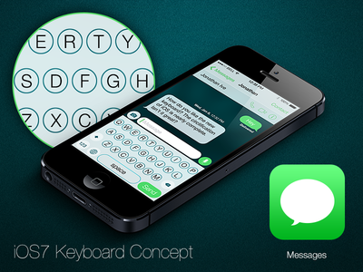 iOS7 Keyboard Design Concept - Revised