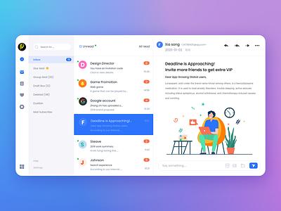 Mail UI #Dailyui vector dashboard minimal illustrator dailyui branding paviart flat ux web app ui website illustration design