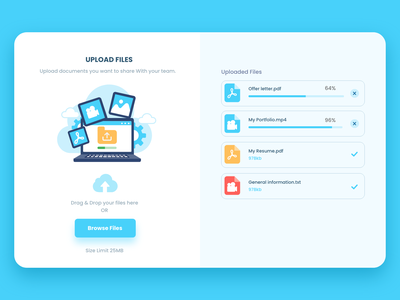 Upload File #DailyUI vector dailyui flat branding paviart app ui website illustration design
