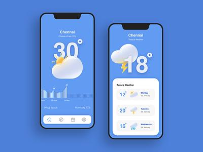 Weather #Dailyui sunny drops thunder rain cloud weather dailyui branding flat ux paviart web app ui website illustration design